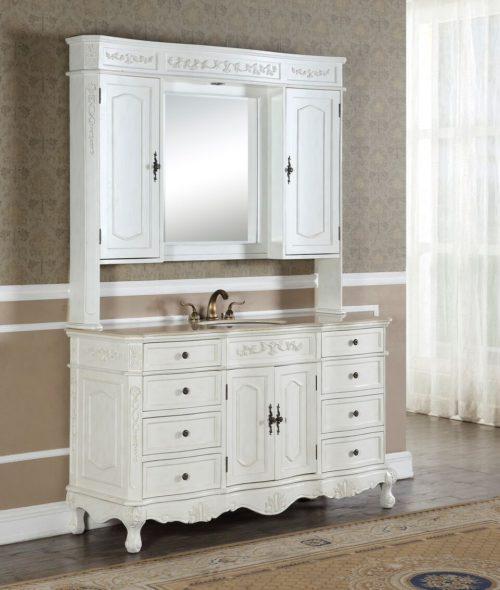 Kensington 36′ Teak Vanity with Matching Medicine Cabinet ...
